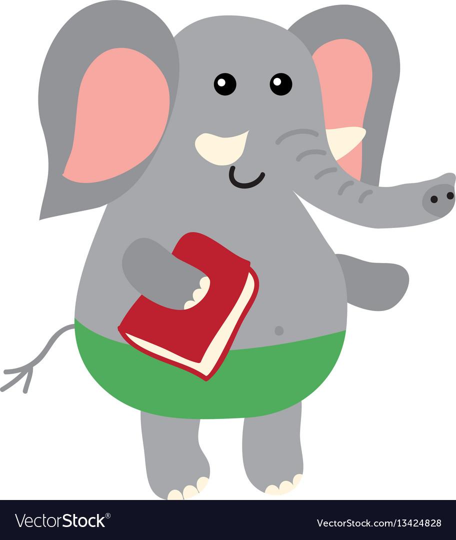 Cute cartoon elephant vector image