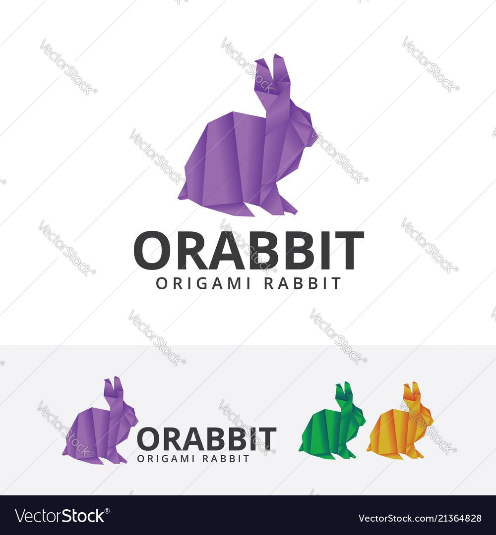 Origami rabbit logo