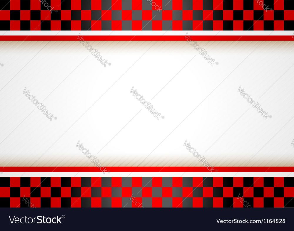 Race horizontal background vector image