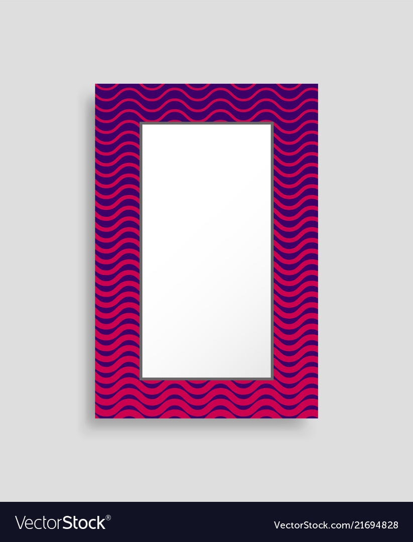 Rectangular frame colorful