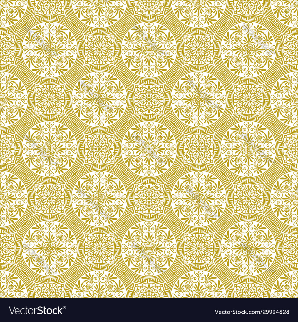 Seamless beautiful pattern in ethnic greek style vector