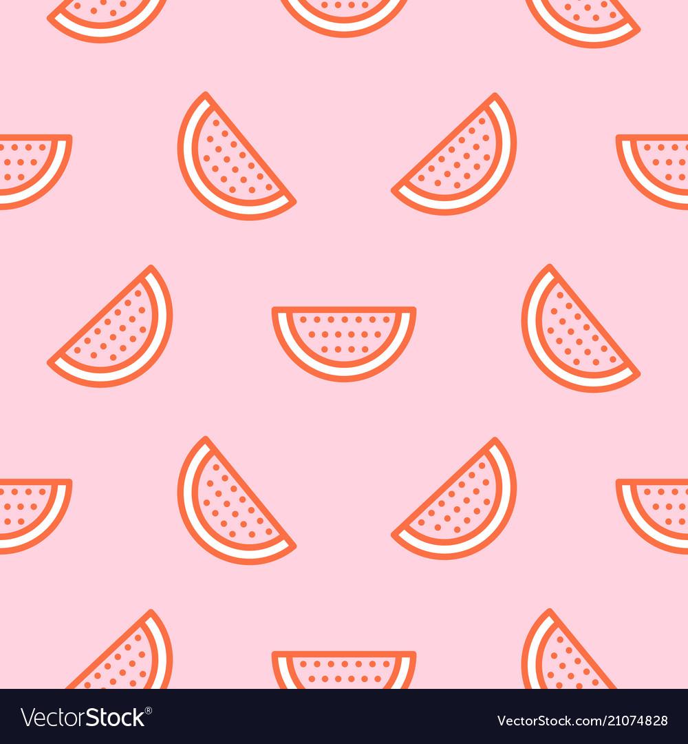 Watermelon icon hot pink seamless pattern