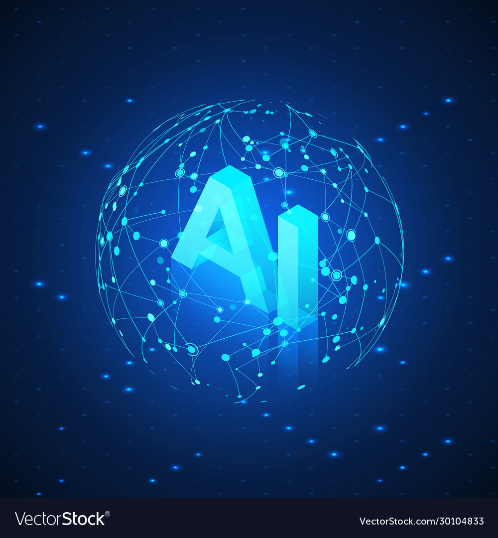 Ai hologram in global network artificial