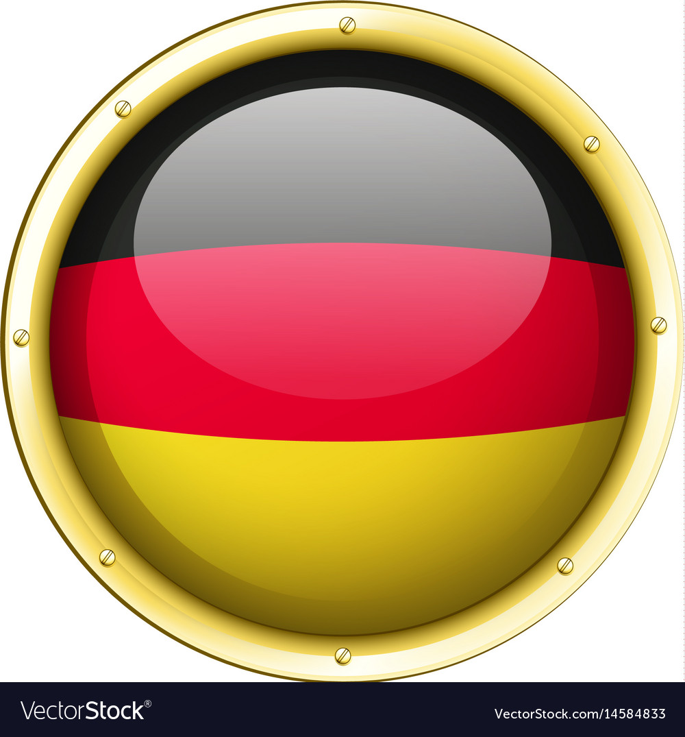 Badge design for germany flag vector image