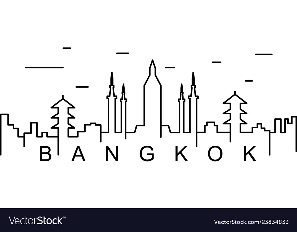 Bangkok outline icon can be used for web logo