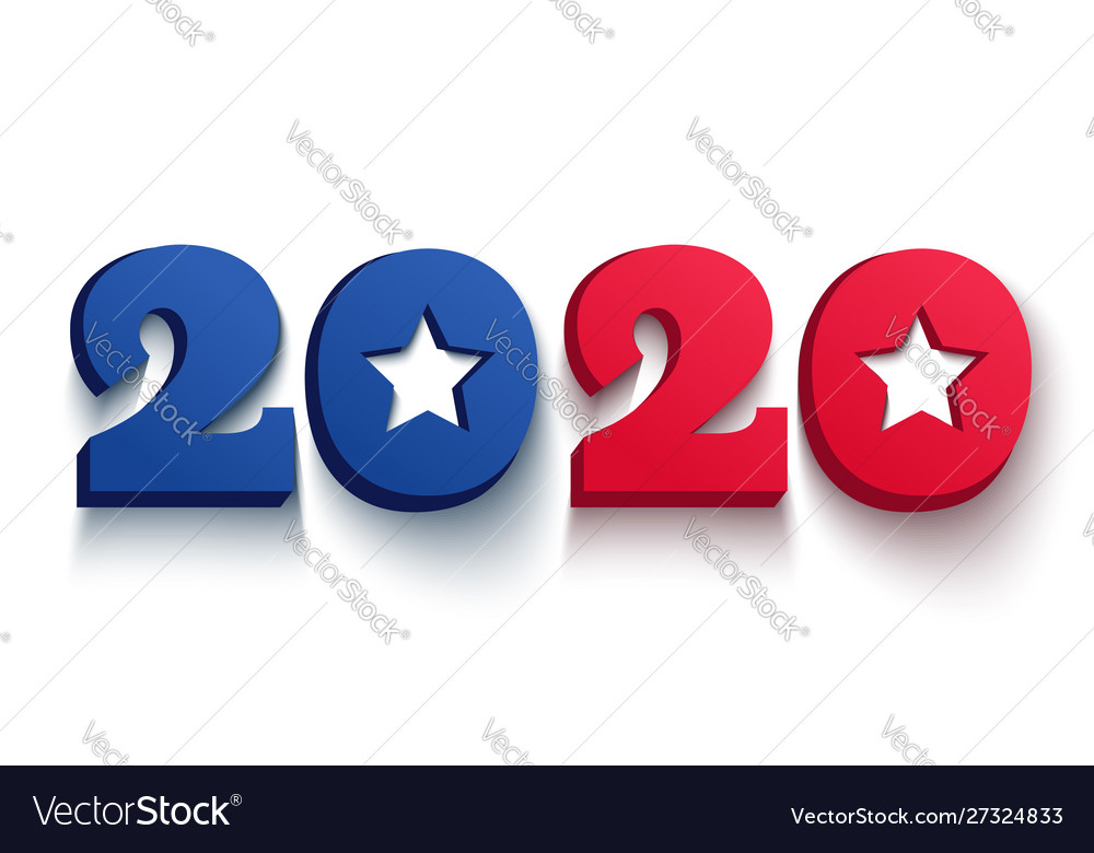 Banner with 2020 for christmas and new year