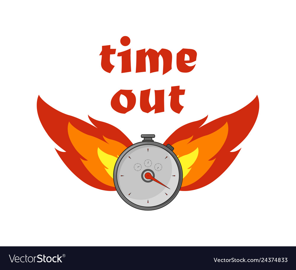 Fire time icon on a white background in flat style