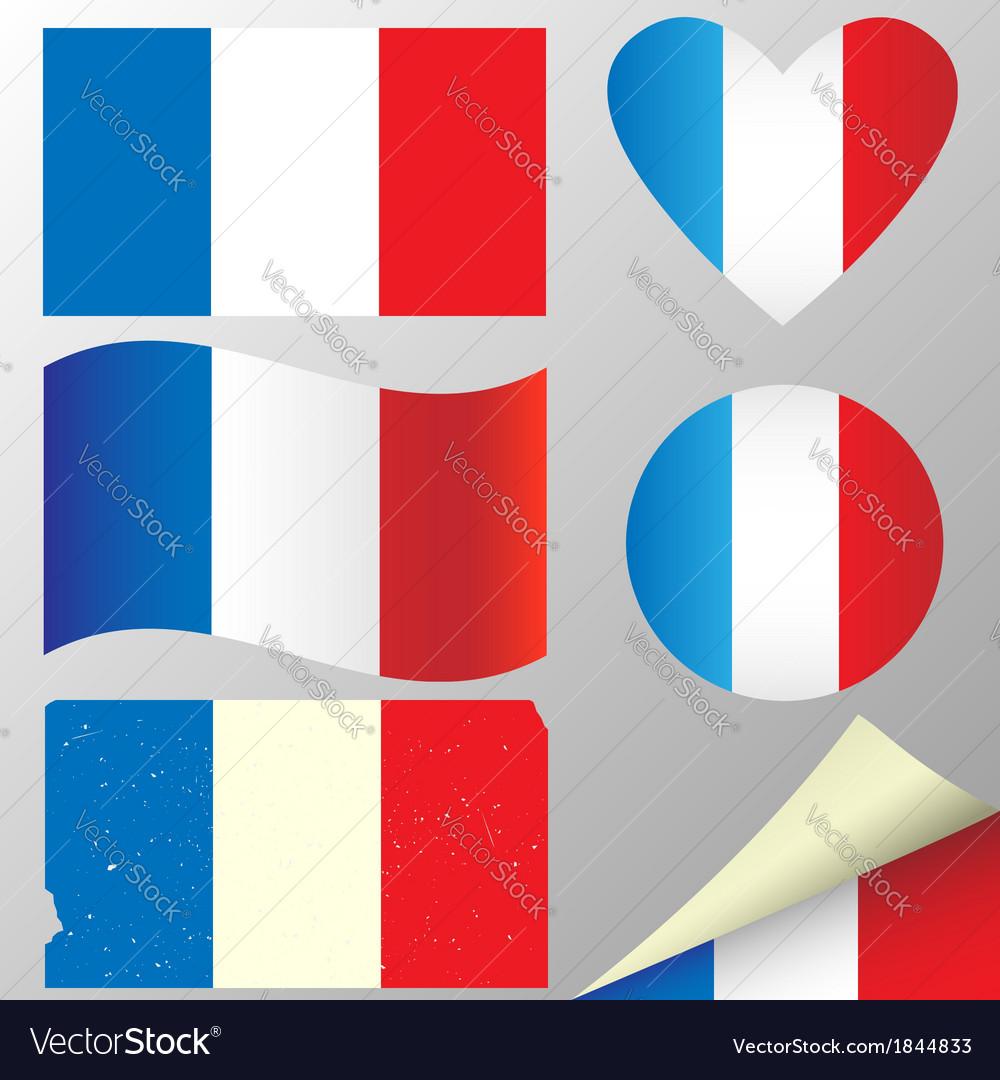 France flags set