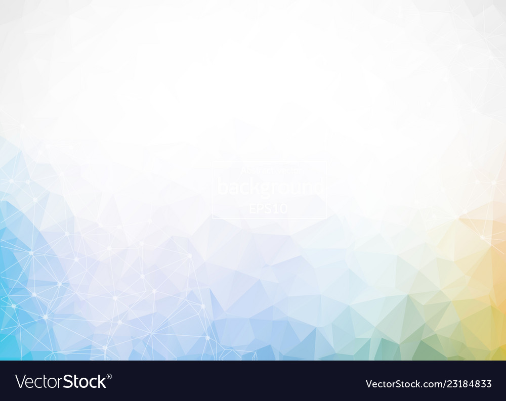 Geometric colorful polygonal background molecule