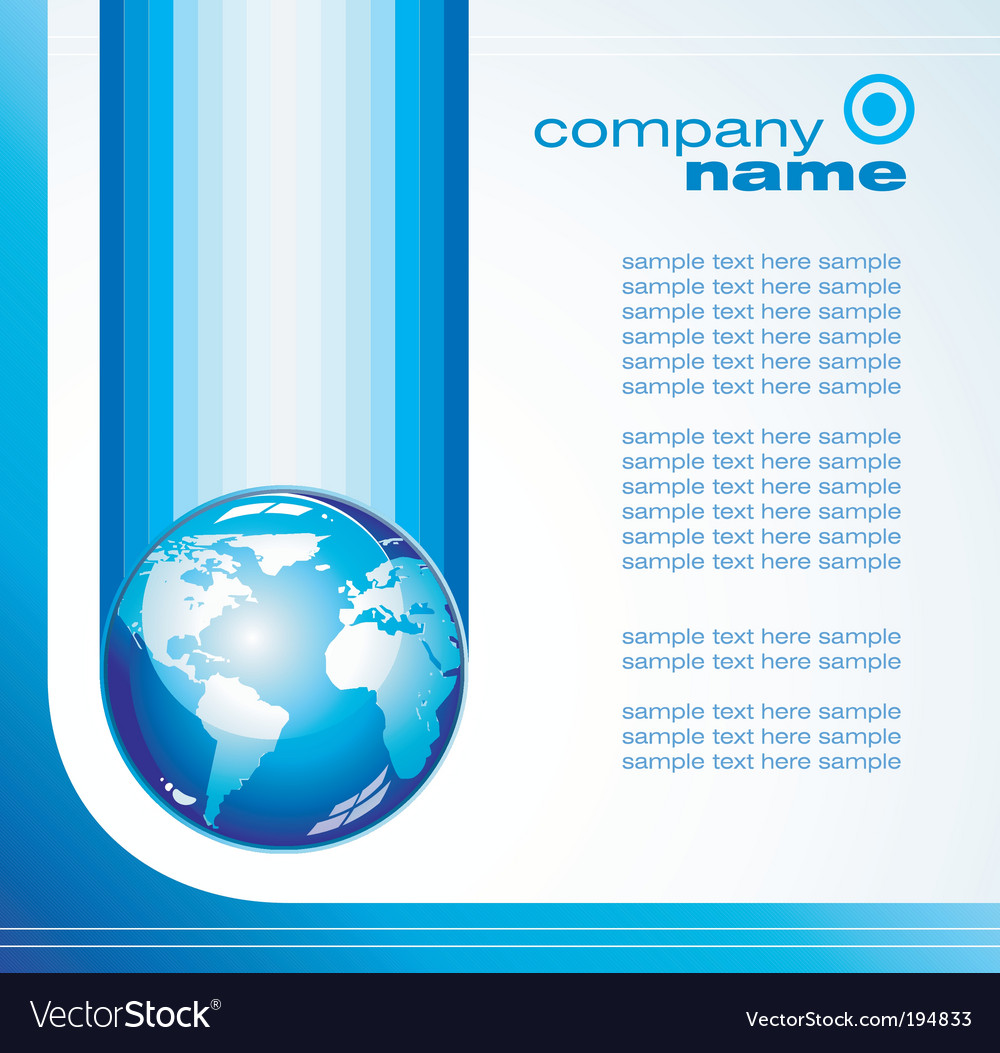 Global business card Royalty Free Vector Image