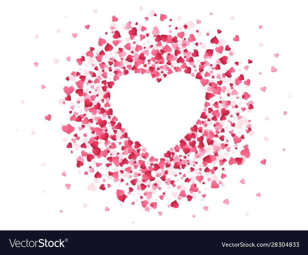 Heart shaped confetti happy valentines day lovely