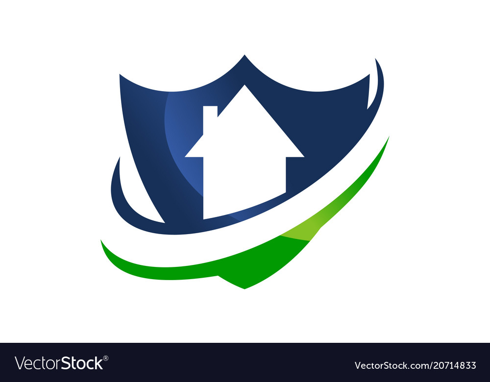 Home shield template Royalty Free Vector Image
