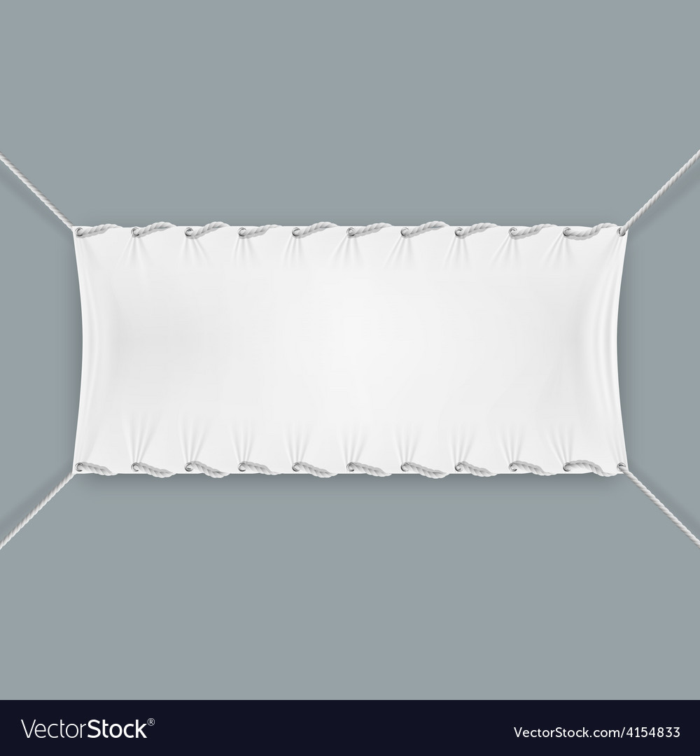 Hung By Ropes Textile Banner vector image