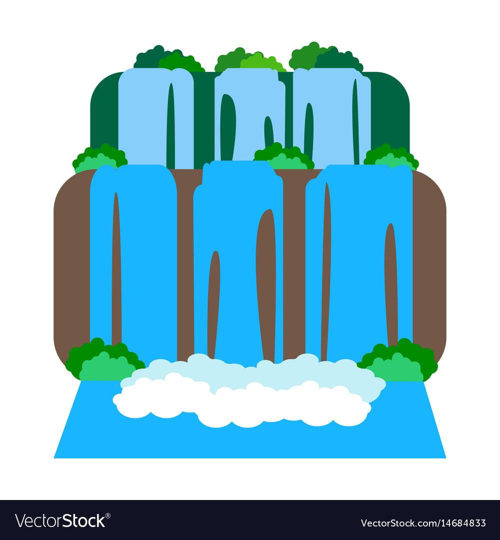 Iguazu falls vector image