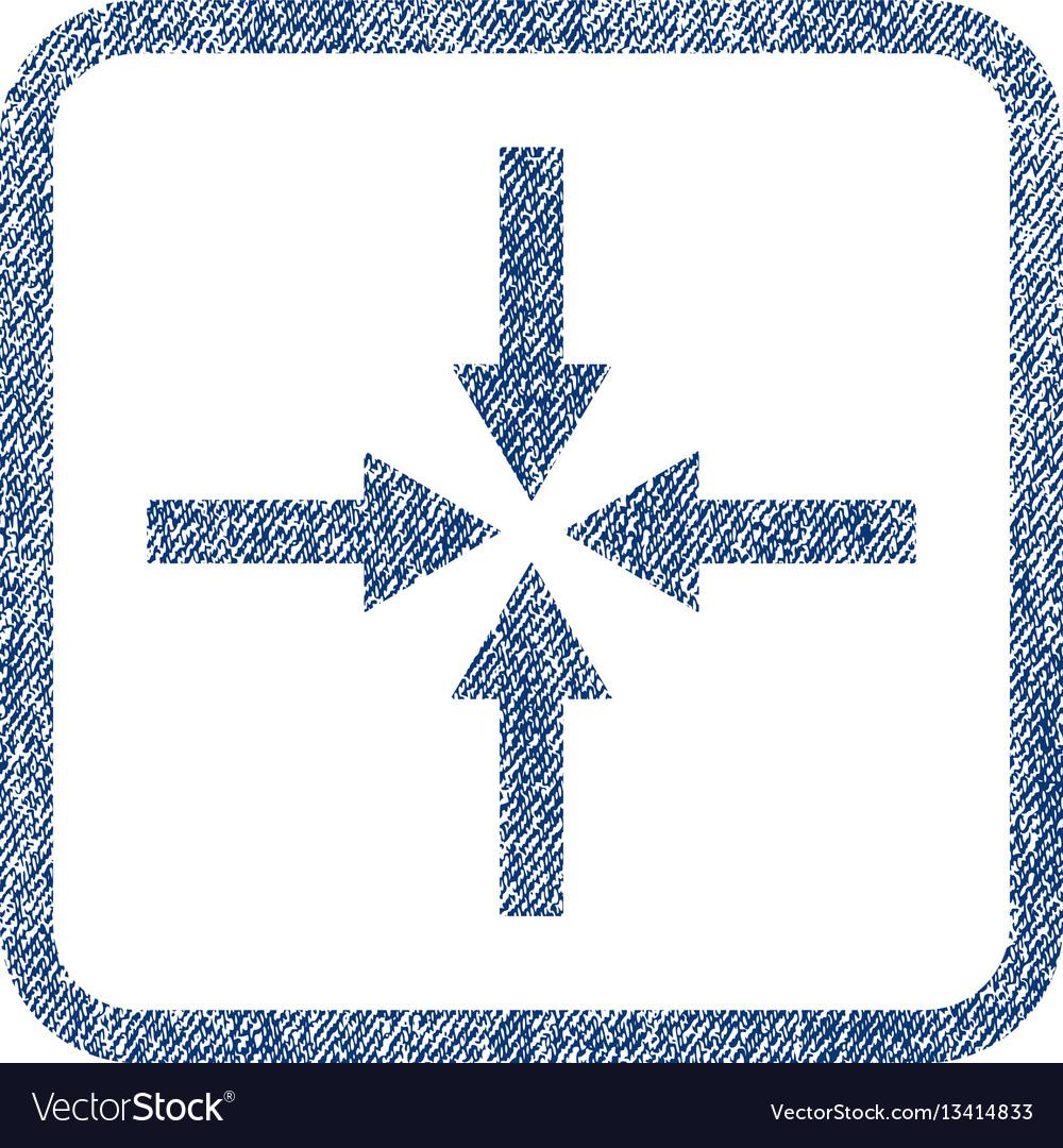Impact arrows fabric textured icon
