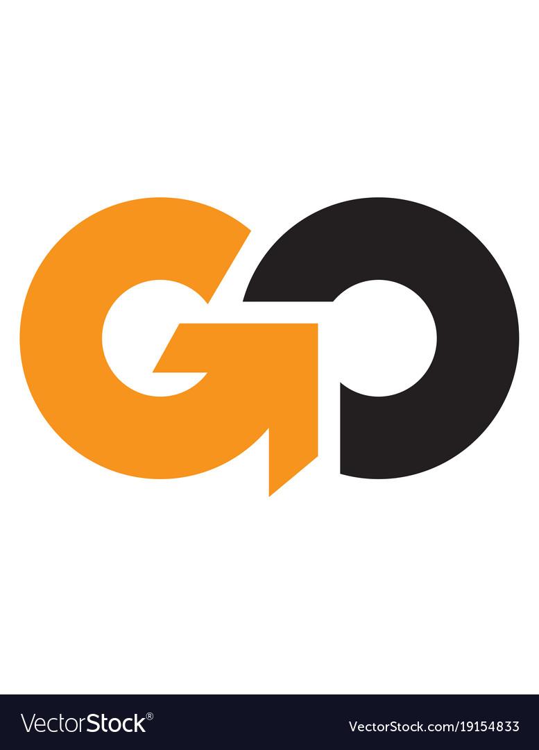 Initial letter go uppercase logo