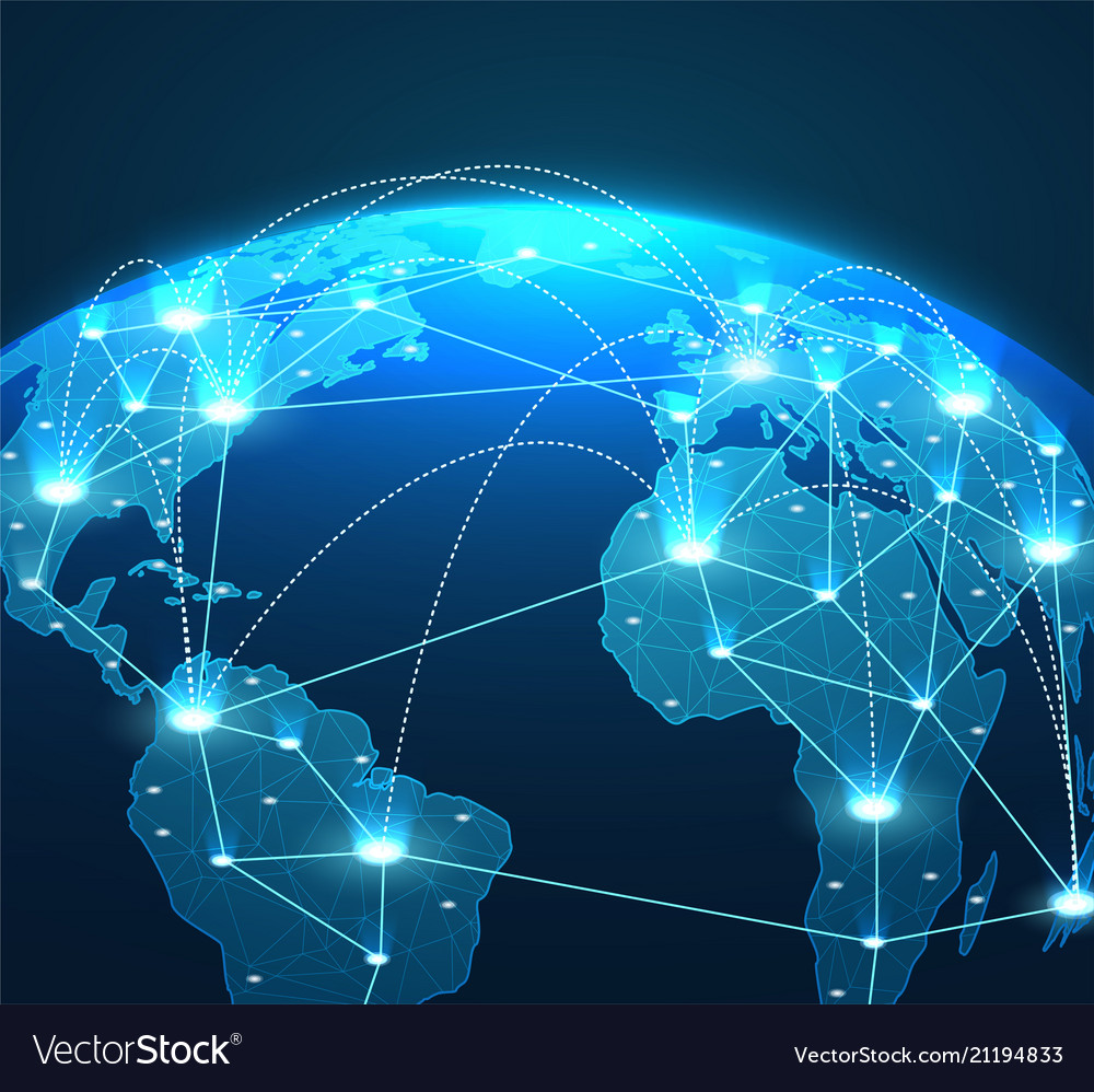 Internet concept of global network connections