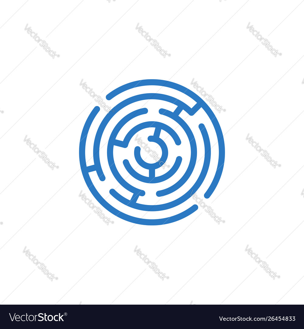 Labyrinth related glyph icon