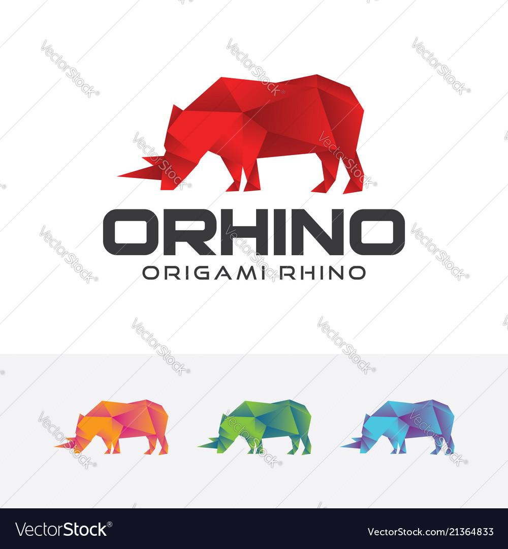 Origami rhino logo