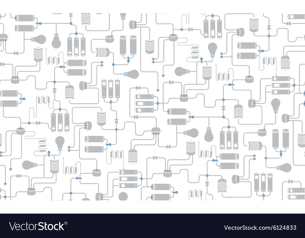 Seamless background of electrical scheme Vector Image