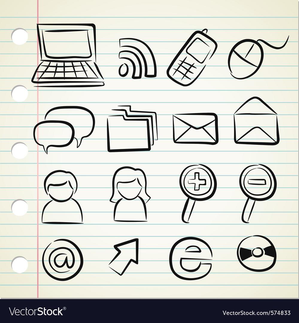 Sketchy icon set