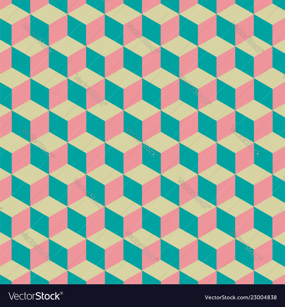 Abstract cube pattern colorful design geometric