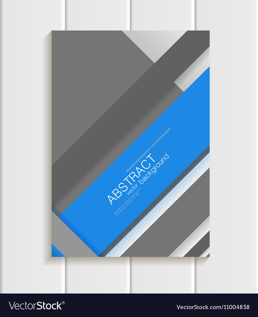 Brochure in material design style