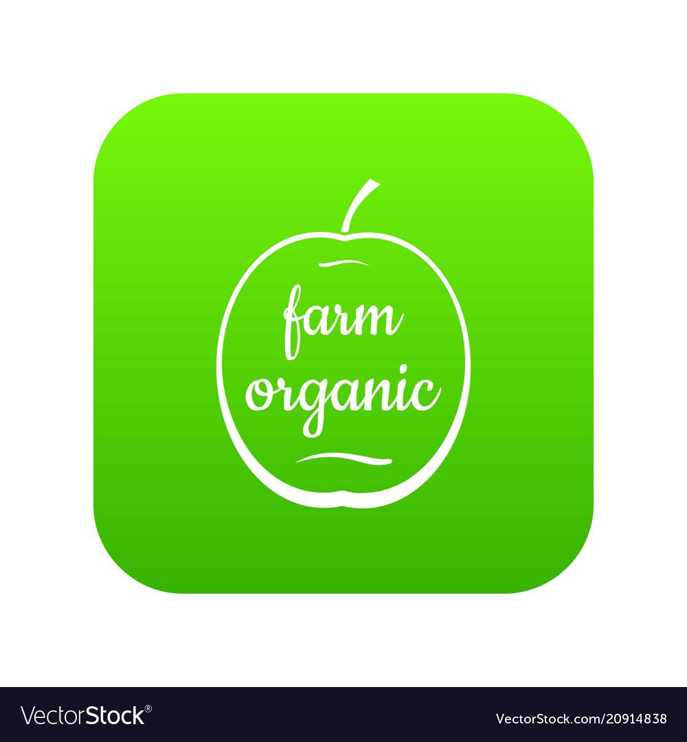 Farm organic icon green