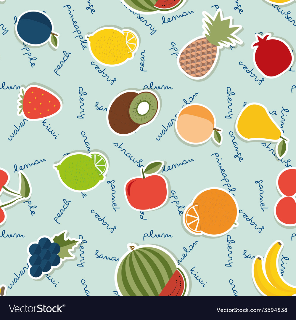 Fruit seamless pattern The image of fruits and
