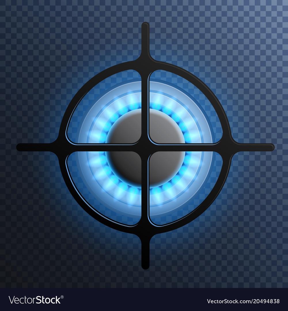 Gas flame burner plate composition vector image