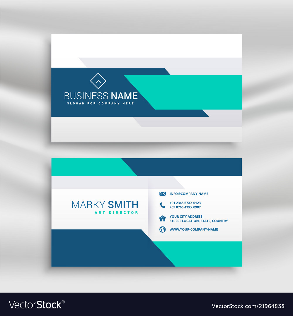 Professional Medical Style Business Card Vector Image