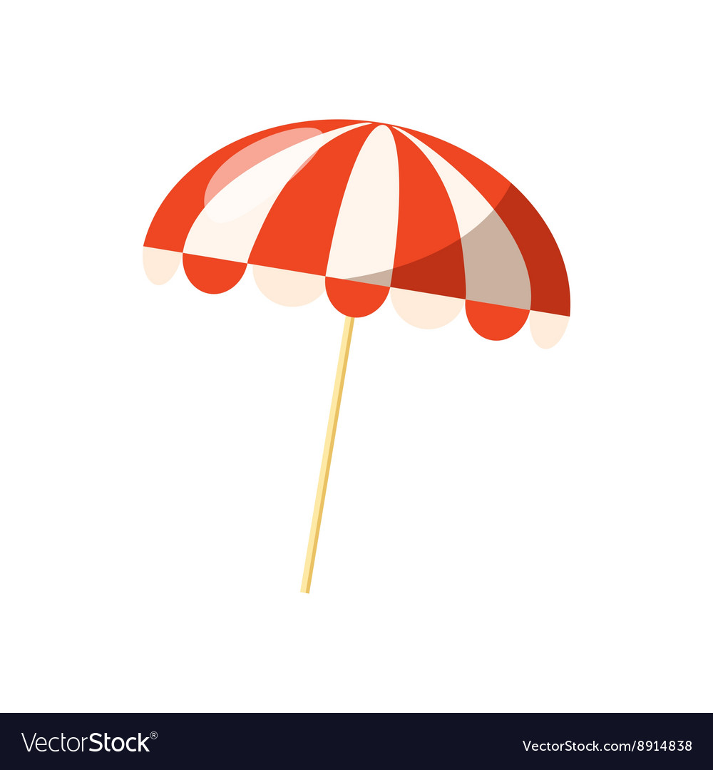 11369f1bca Striped beach umbrella icon cartoon style