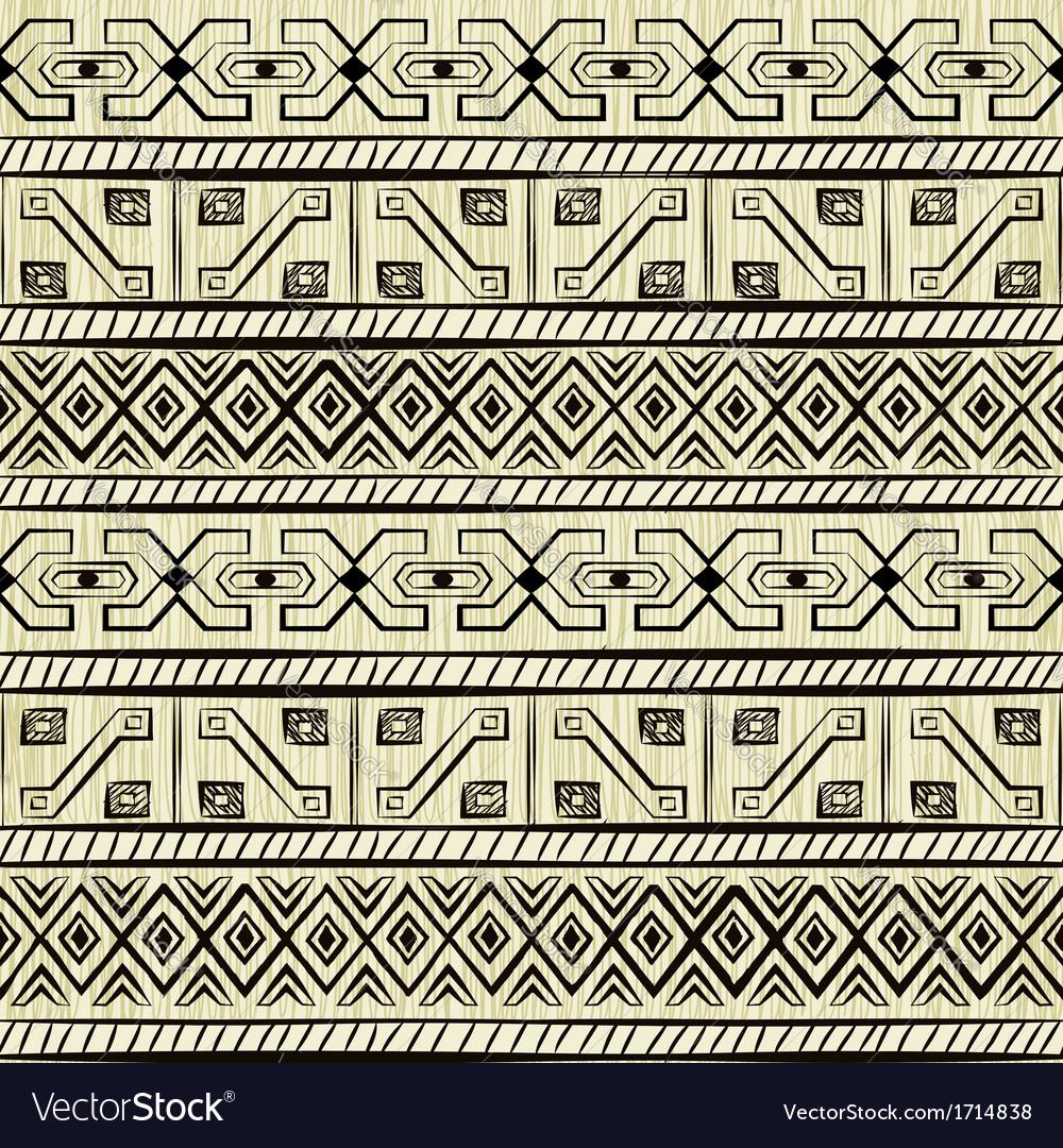 Vintage ethnic hand-drawn seamless pattern