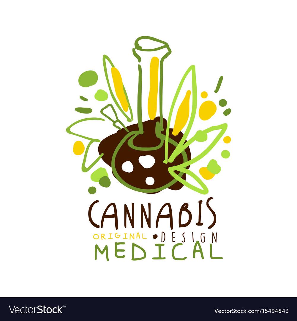 Medical cannabis label original design logo