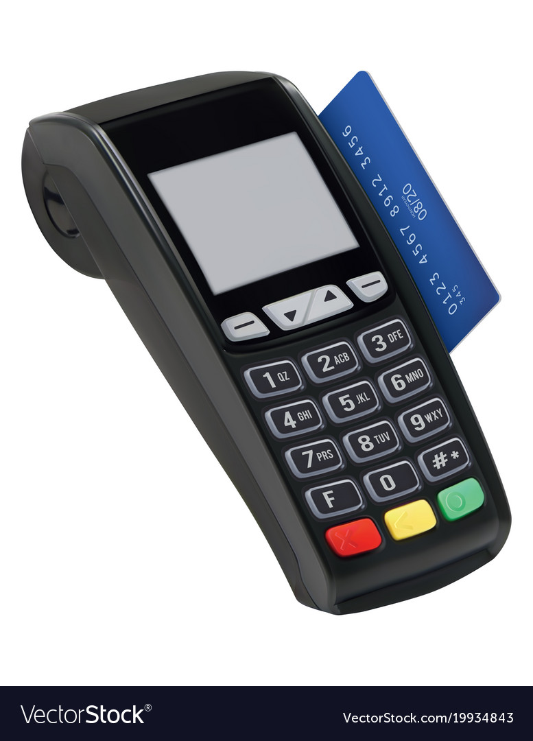 Pos terminal with card isolated paying with