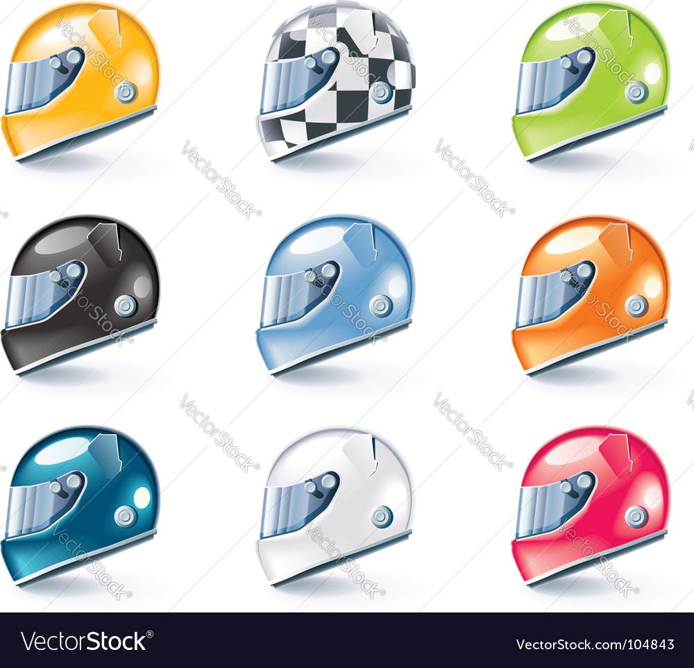 Racing helmets icons