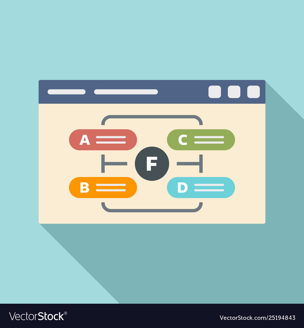 Web page management icon flat style