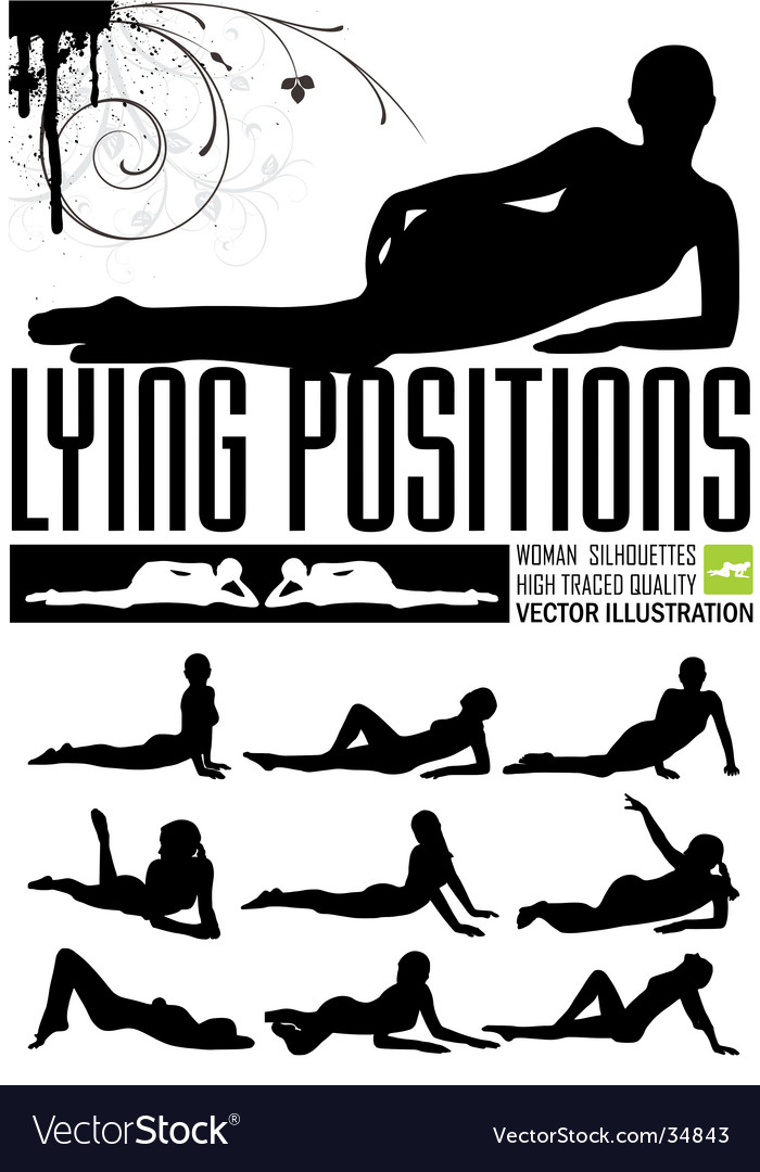 Woman in lying positions