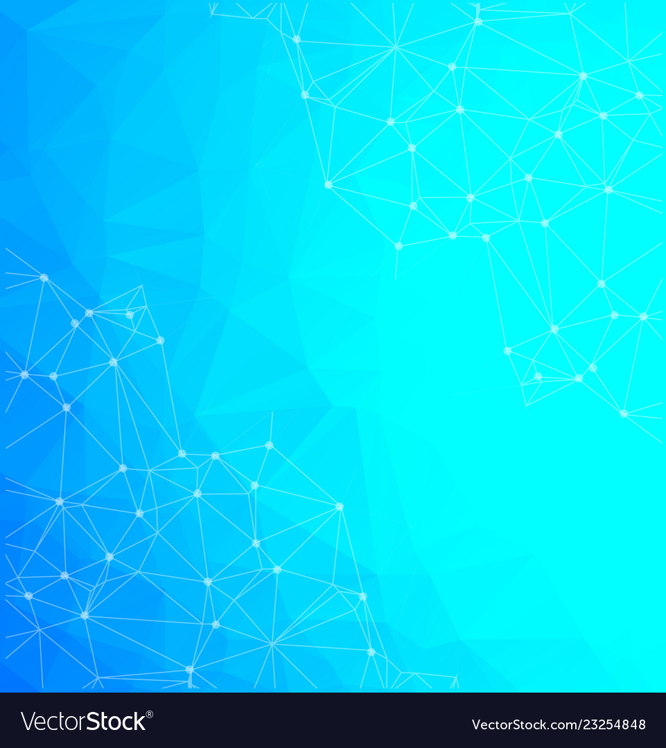 Abstract low poly blue technology background