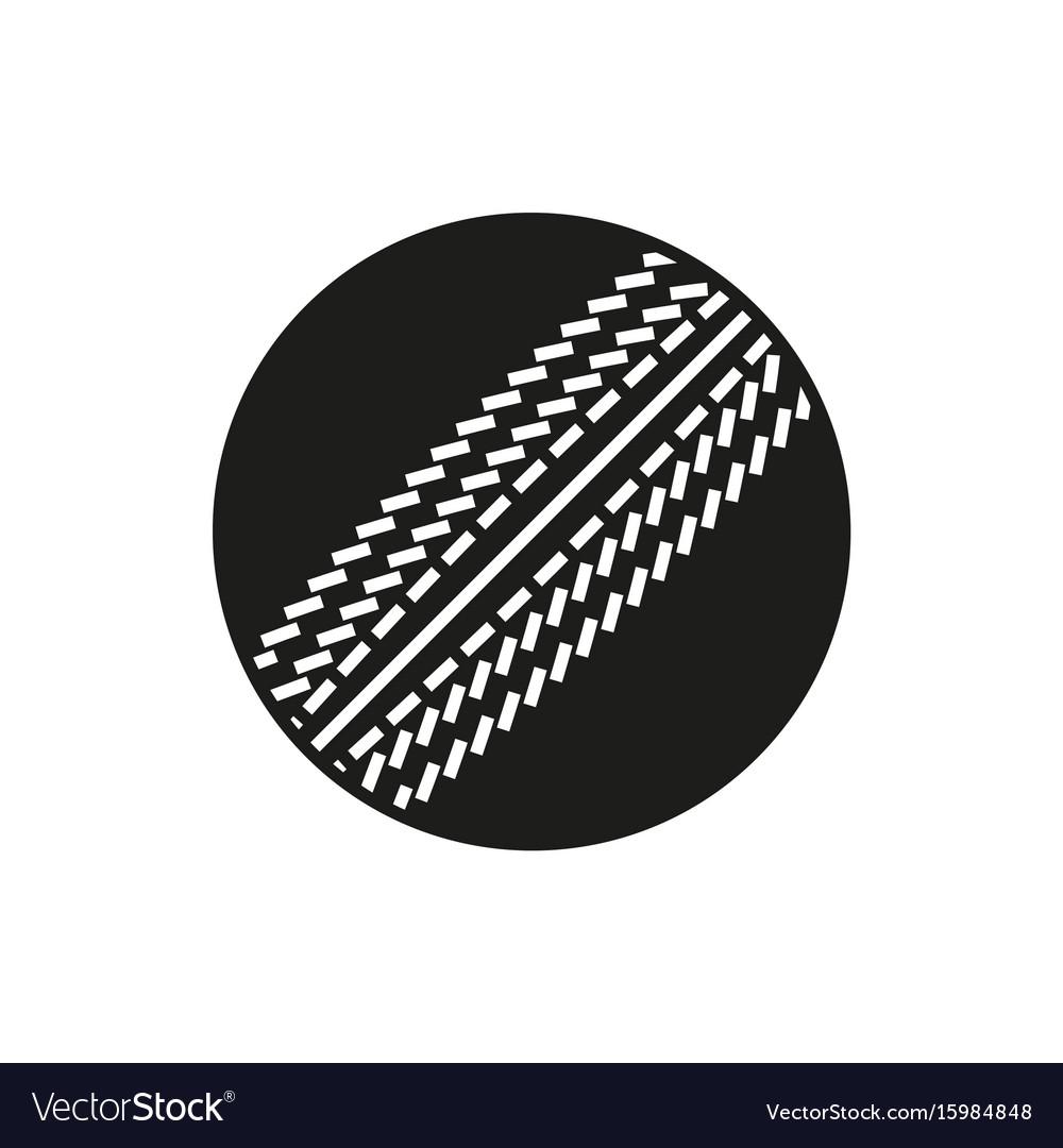Cricket ball icon on white background