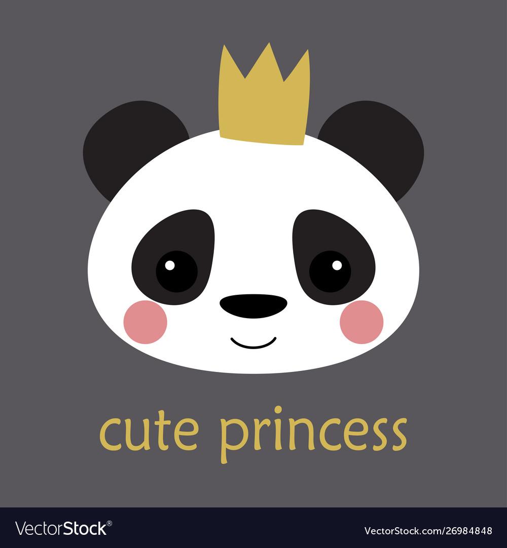 Cute panda princess
