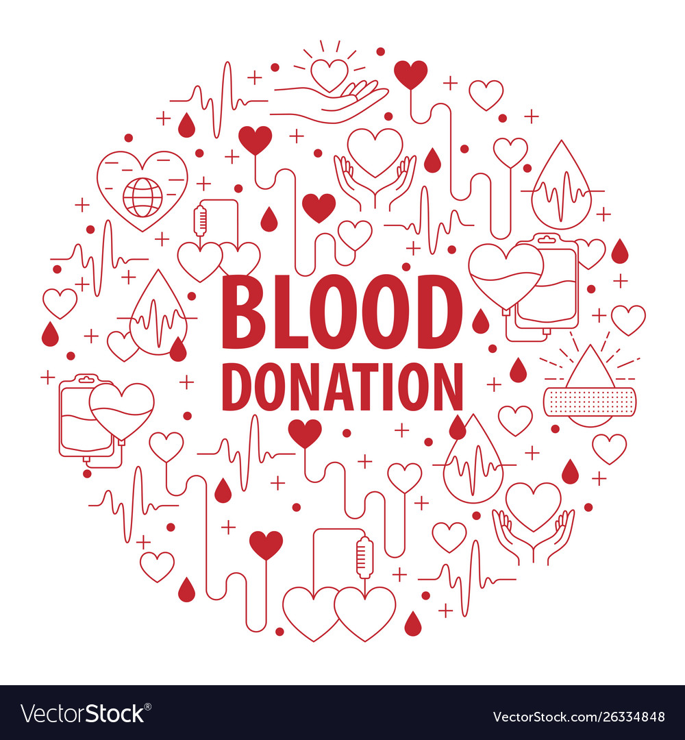 Donation blood circle banner