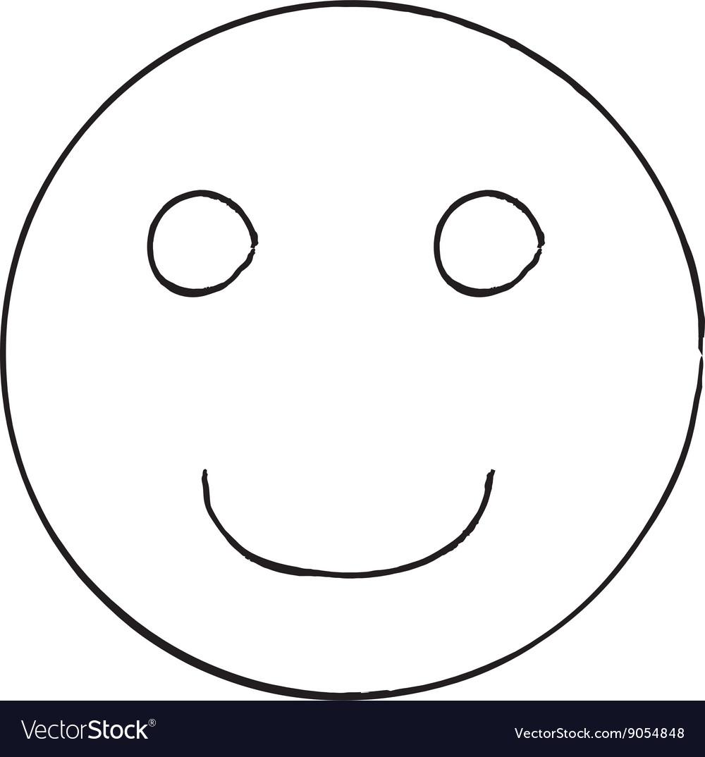 Smile face grunge icon symbol Emoji