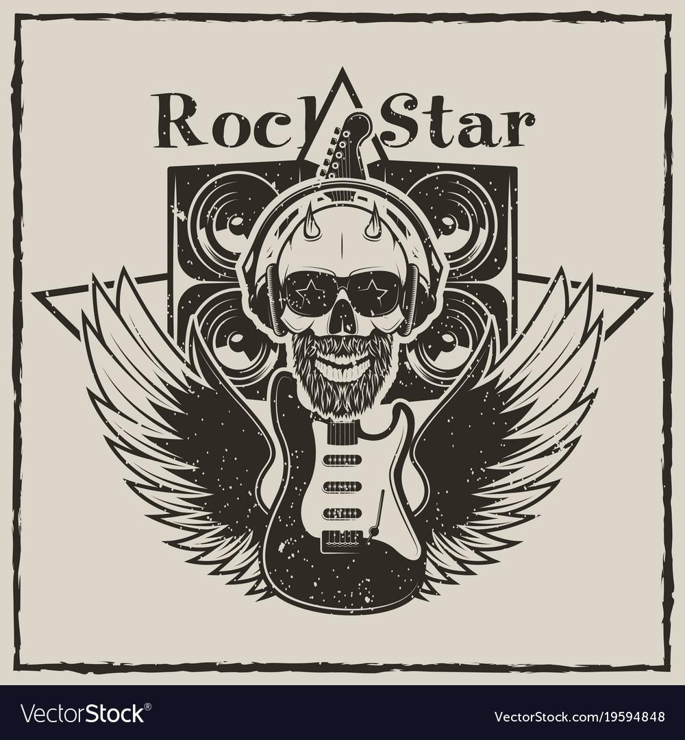 Vintage rock star grunge