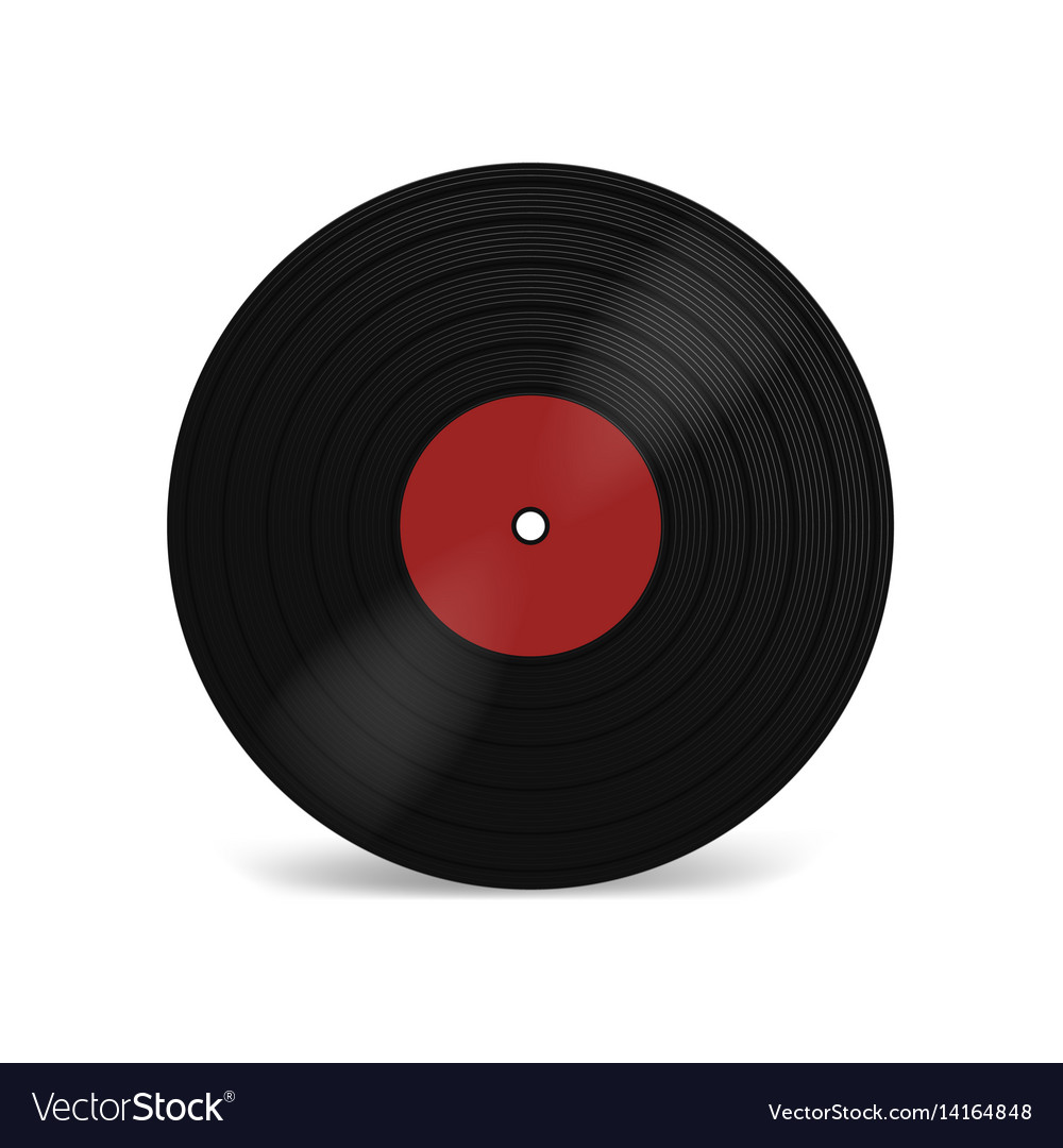Vinyl lp record with red label black musical long