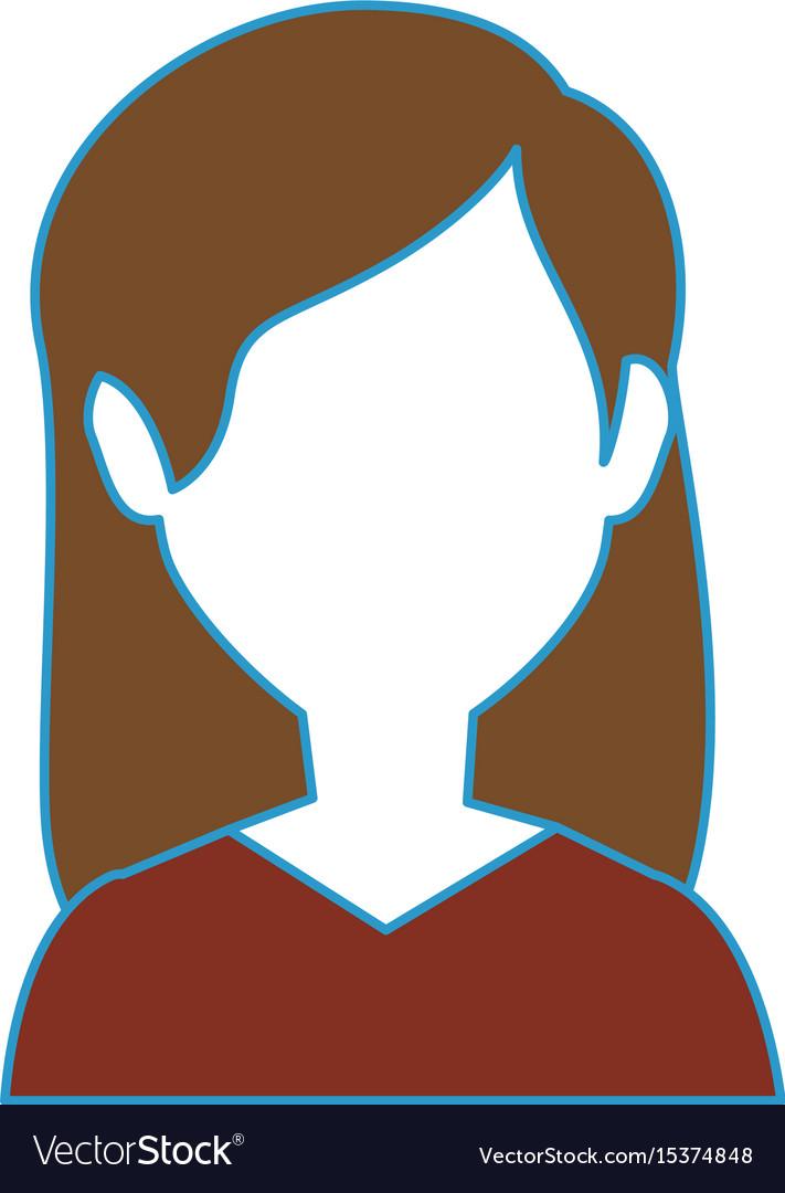 Woman faceless head