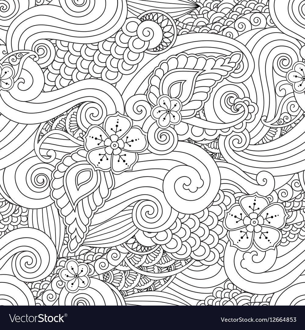 Abstract hasian stylized ornament seamless pattern vector image