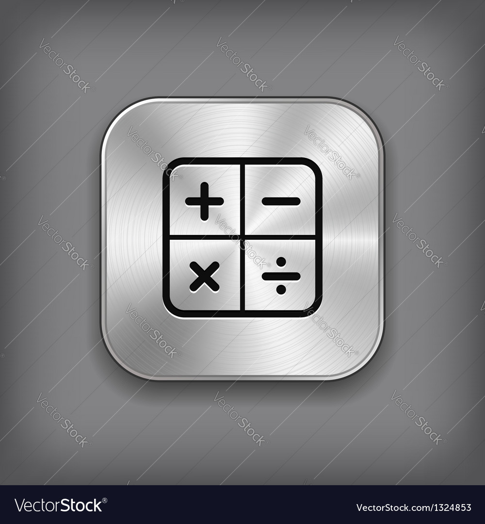 Calculator icon - metal app button