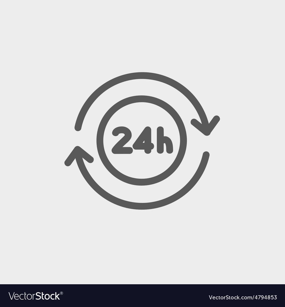 Convenience service thin line icon vector image