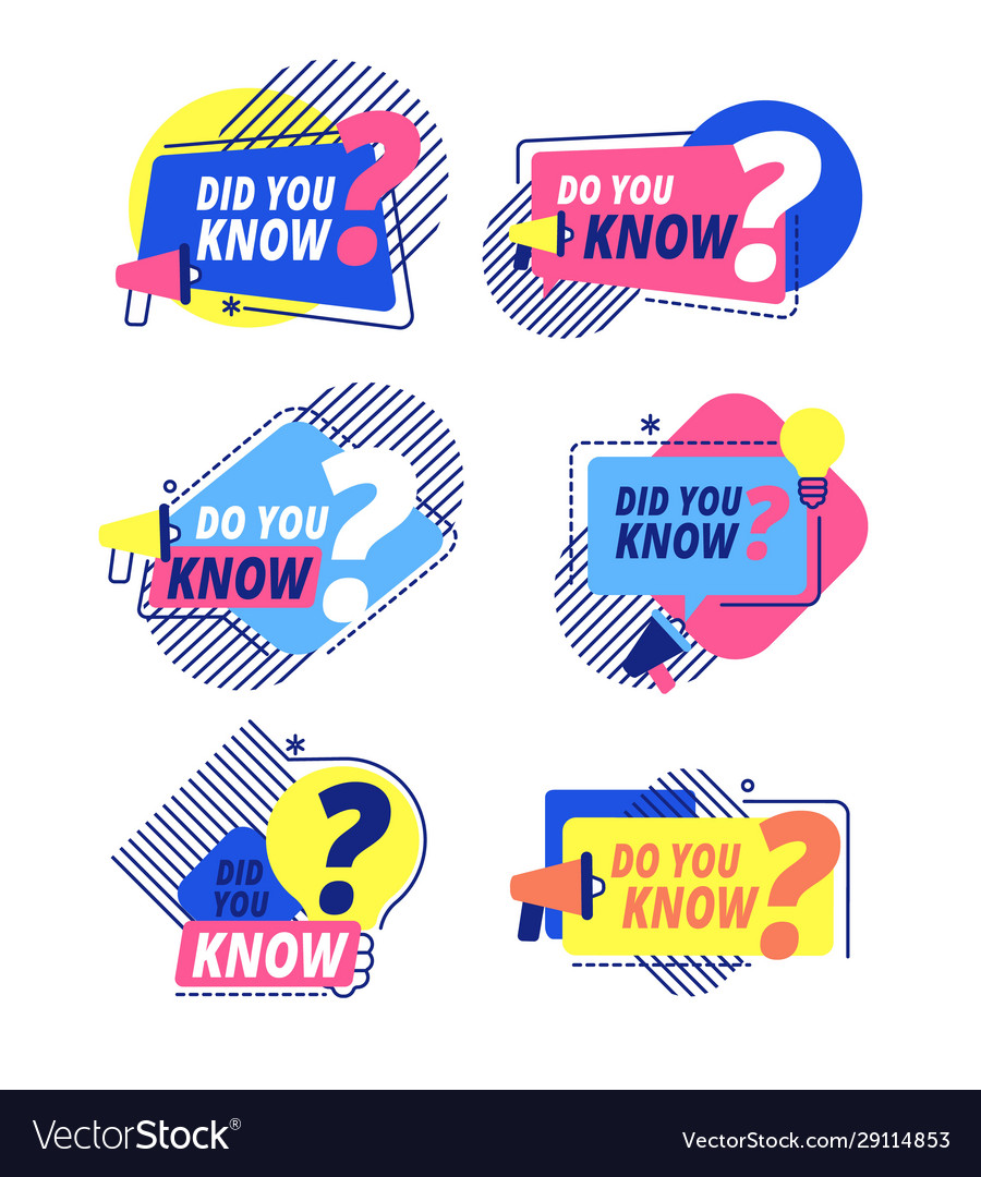 Do you know questions templates did you know